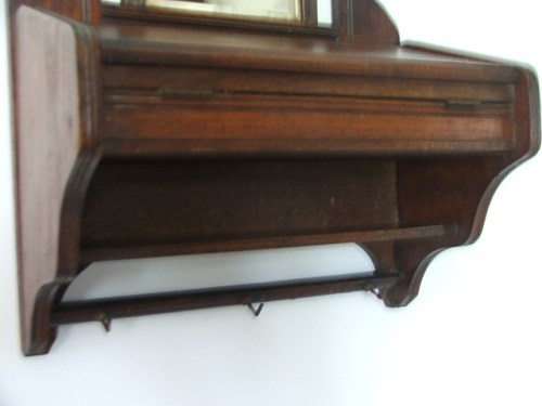 Antique Wooden Hall Mirror