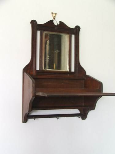 Vintage Wooden Hall Mirror