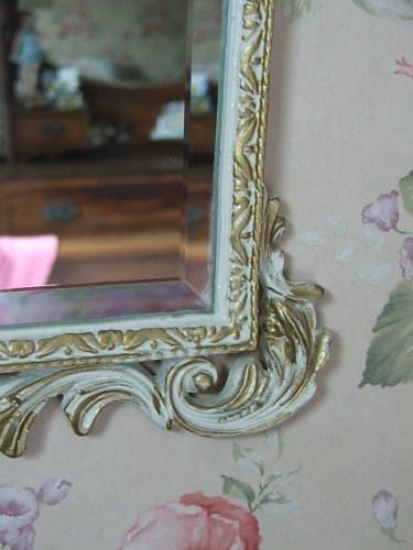French style white mirror