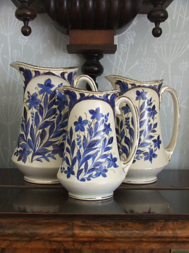 Trio of vintage pottery jugs