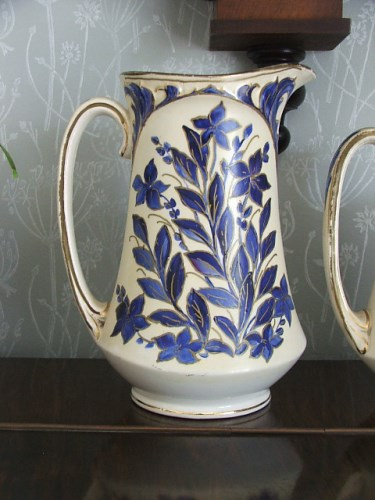 Pretty Blue Decorative Vintage Jug