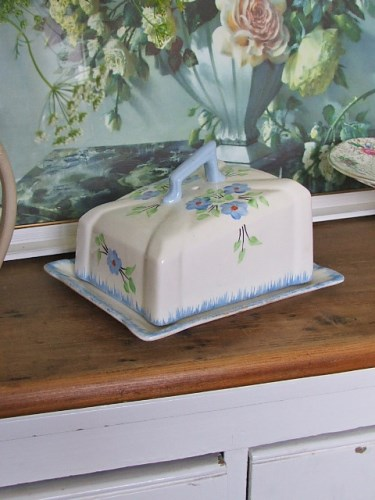 Pretty Floral Butter Dish