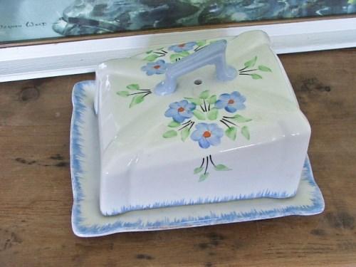 Vintage Floral Butter Dish