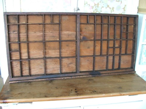 Old Wooden Printers Tray