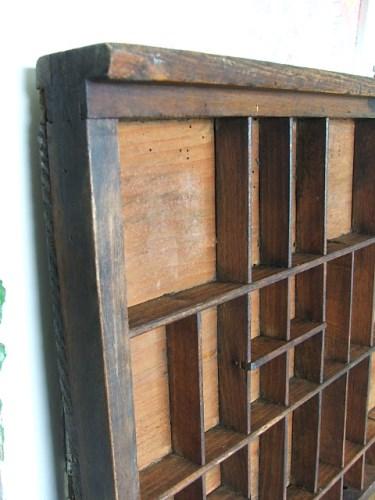 Vintage Wooden Printers Tray