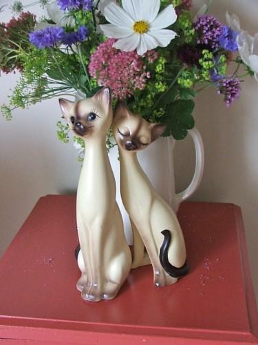 1960's Retro Cat Ornaments