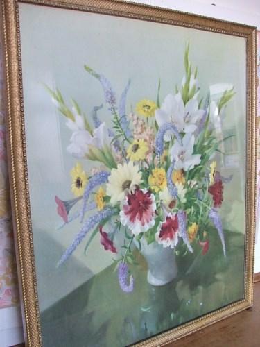 Gladioli and Petunias by Vernon Ward