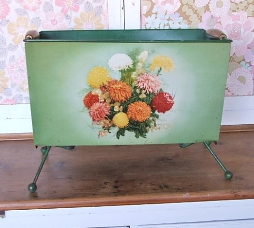 Green Worcesterware Newspaper Rack