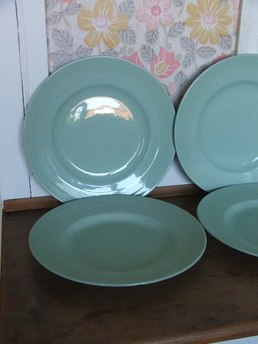 Green Woods Ware Beryl Plates