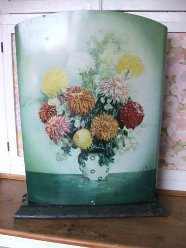 Worcester Ware Tin Floral Firescreen
