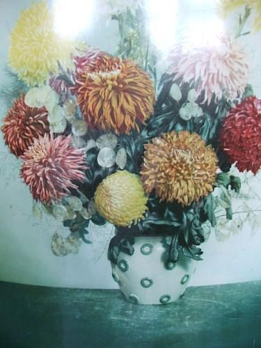 1950's Floral Worcester Ware Firescreen
