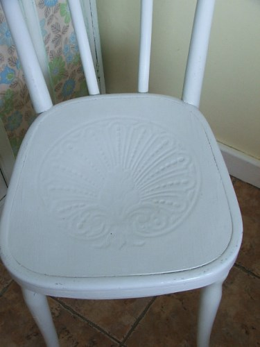 Pale Blue Painted Bentwood Chair