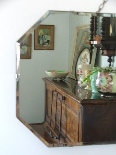 Vintage Frameless Wall Mirror