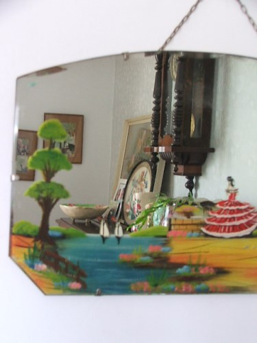 Vintage Painted Wall Mirror