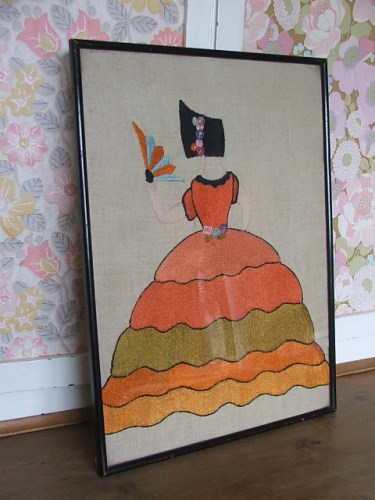 Vintage Framed Embroidery