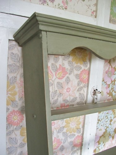 Green Painted Wall Shelf