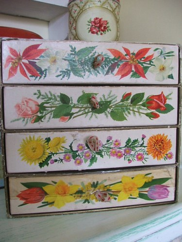 Old Floral Drawers