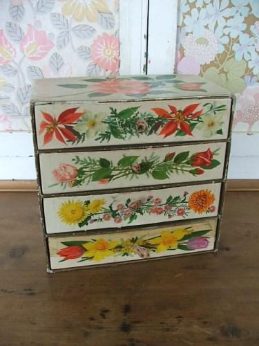 Vintage Chocolate Box Drawers