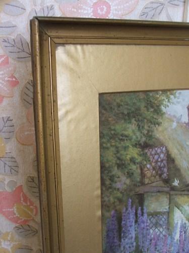 Vintage Cottage Garden Print