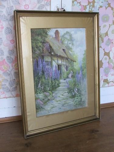 Old vintage cottage garden picture/print