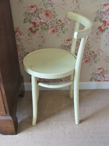 Yellow Painted Bentwood Chair