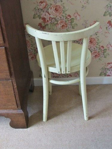 Old Yellow Painted Bentwood Chair