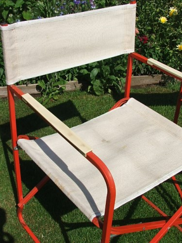 Old Folding Directors Chairs
