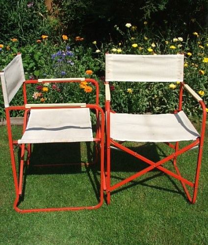 Pair of Folding Garden Chairs