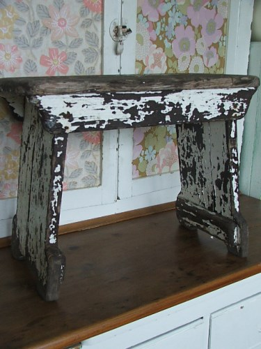 Worn Rustic Wooden Stool