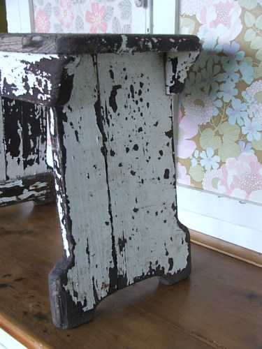 Worn and Chippy Wooden Stool