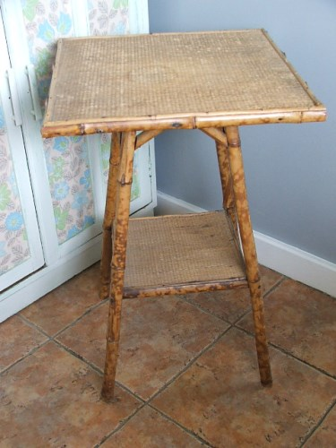 Old Bamboo Table