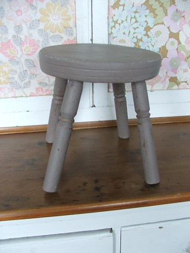 Small Painted Wooden Stool