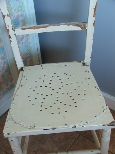 Old Wooden Chair with chippy paintwork