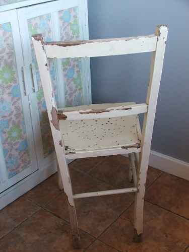 Old Painted Wooden Chair