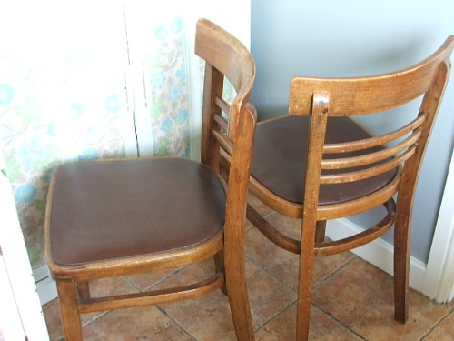 Wooden 1960's Kitchen Chairs