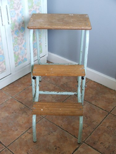 Old Vintage Folding Step Stool