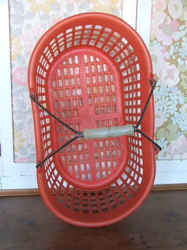 Vintage Plastic Red Basket
