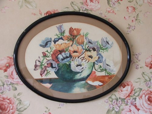 Pretty Vintage Floral Watercolour Painting