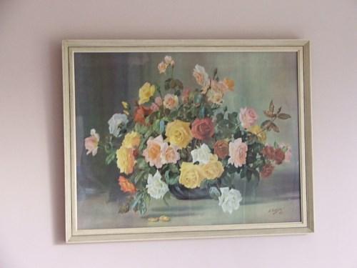 Retro 1950's Floral Picture