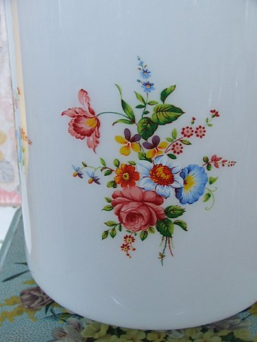 Large Glass Floral Lampshade
