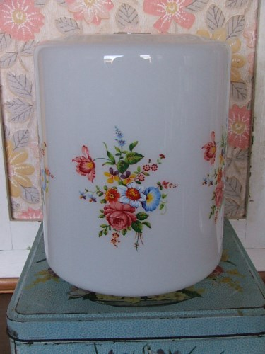 Pretty Floral Glass Lampshade