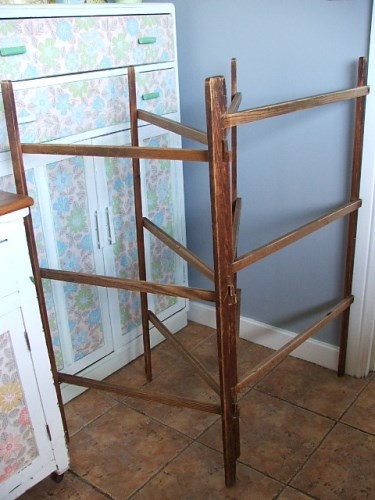 Old Vintage Wooden Clothes Airer/Horse
