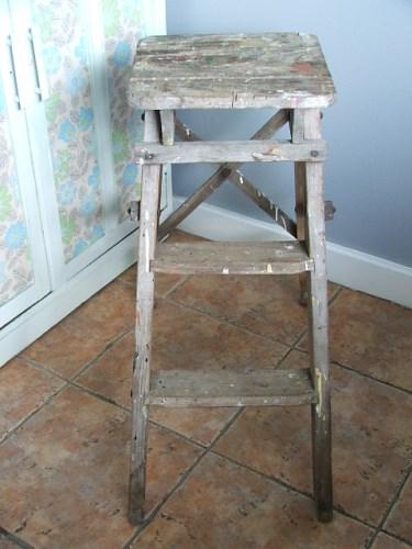Old Vintage Wooden Step Stool