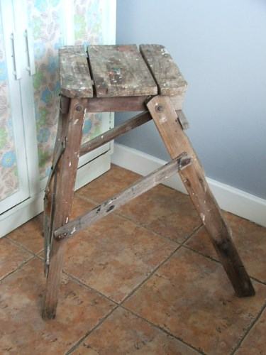 Old Vintage Step Stool