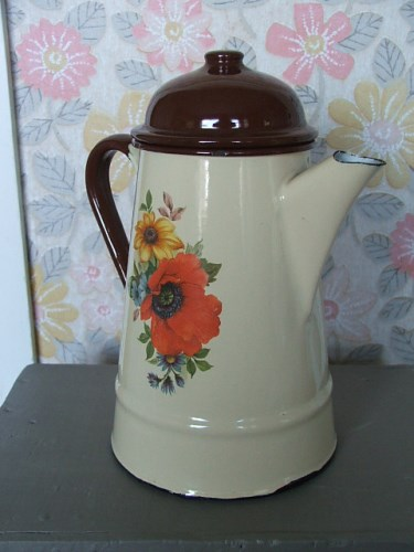 Old Enamel Coffee Pot