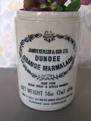 Vintage Pottery Marmalade Jar