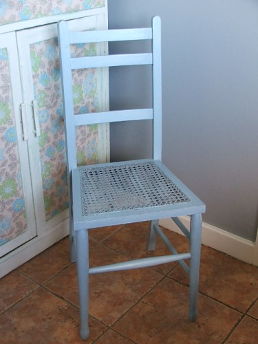 Blue Painted Wooden Chair