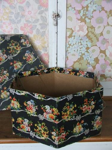 Vintage Floral Hat Box
