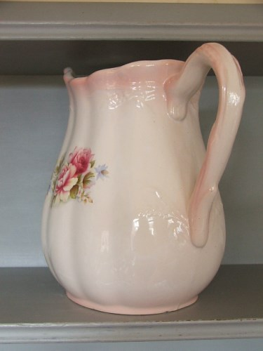 Pretty Vintage Pink Floral Jug
