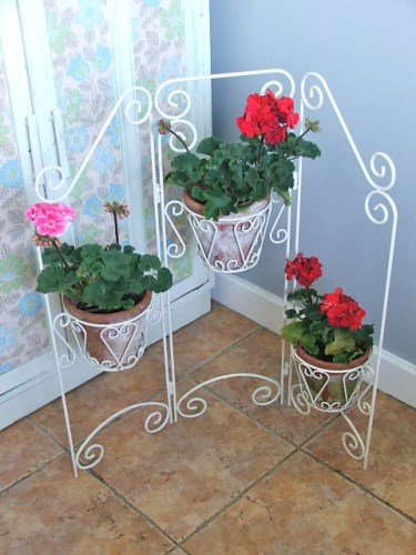 Vintage Folding Wire Plant Pot Holder